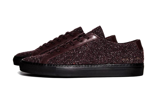 Image of Common Projects Achilles Burgundy Wool Sneaker