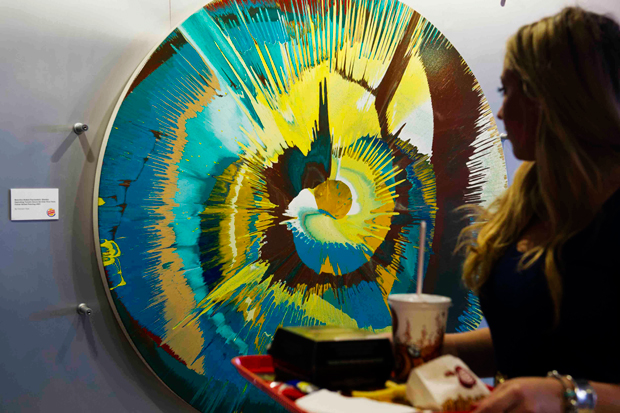 Image of Damien Hirst Donates Original Spin Painting to Burger King
