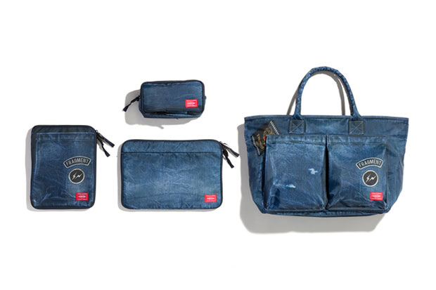 Image of fragment design x Head Porter Denim Print Bag Collection