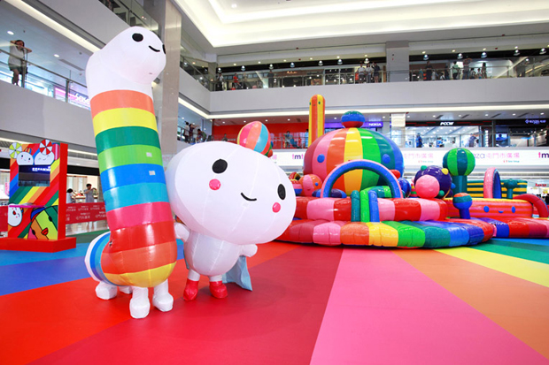 "Image of FriendsWithYou ""Happy Rainbow"" Exhibition @ Tuen Mun Town Plaza"