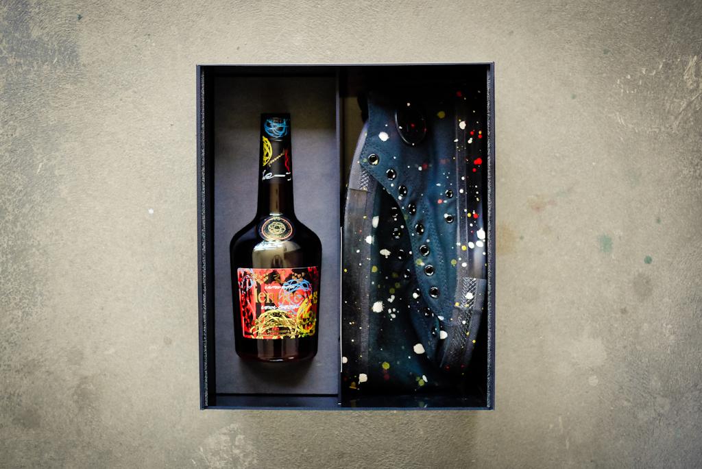 Image of Futura x Hennessy Custom Converse Chuck Taylor Box Set