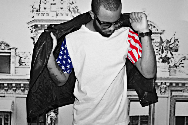 Image of Jalil Peraza American Flag T-Shirt
