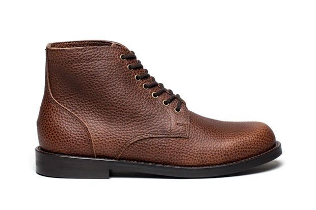 Image of Junya Watanabe Pebble Grain Service Boot & Shoe