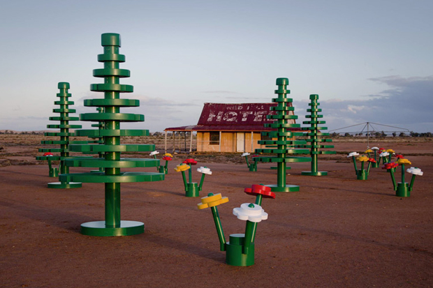 Image of LEGO Sets Up Life-Sized Forest in Australian Outback