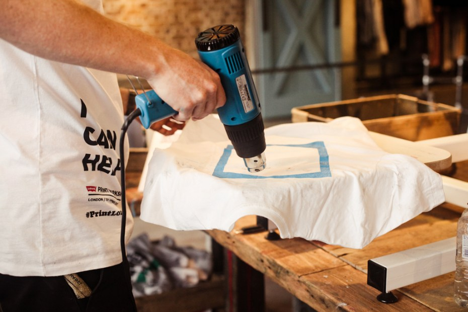 Image of Levi's Print Workshop in London with Anthony Burrill