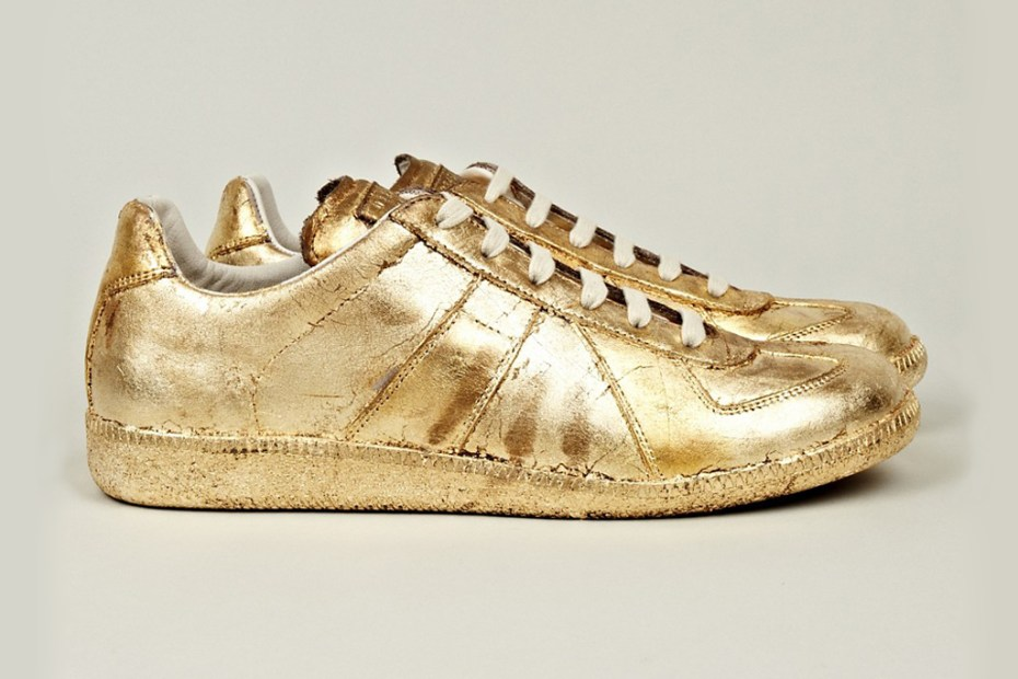 Image of Maison Martin Margiela Gold Foil Replica Sneakers