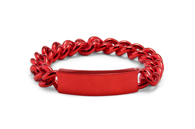 Image of Maison Martin Margiela Red ID Bracelet
