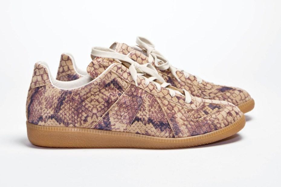Image of Maison Martin Margiela Replica Snakeskin Sneaker