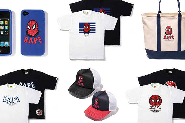 "Image of Marvel Comics x A Bathing Ape 2012 ""Spider-Man"" Capsule Collection"