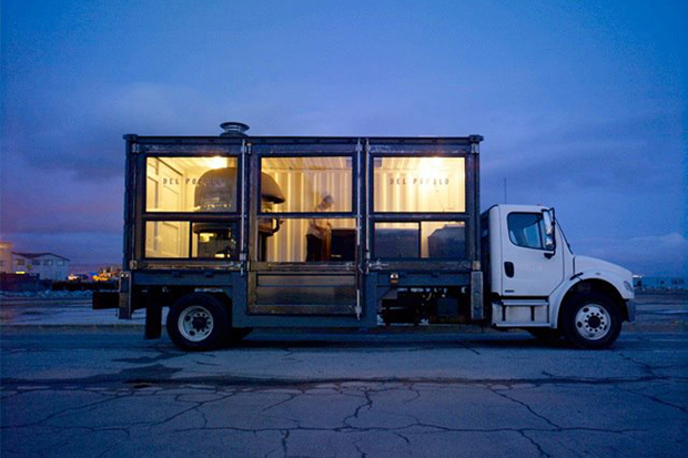Image of A Mobile Pizza Kitchen Made From a Shipping Container