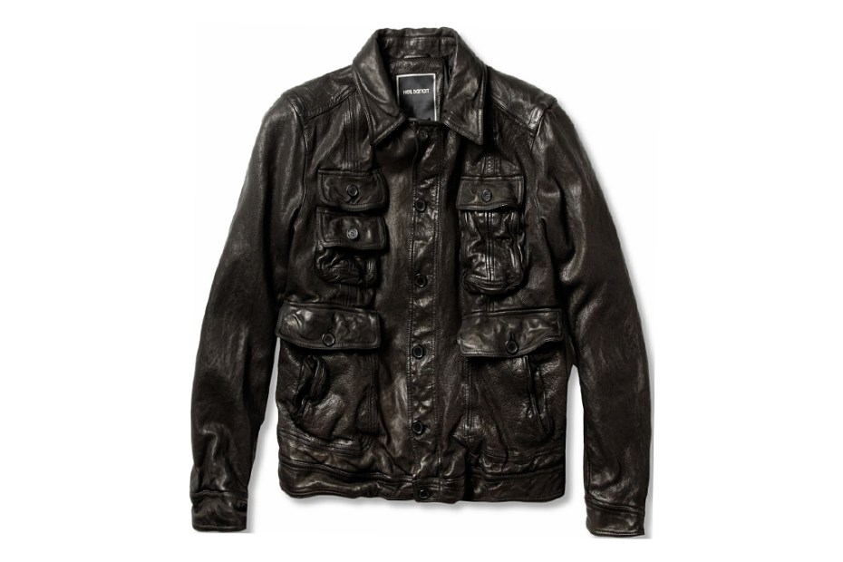 Image of Neil Barrett Padded Textured Leather Jacket