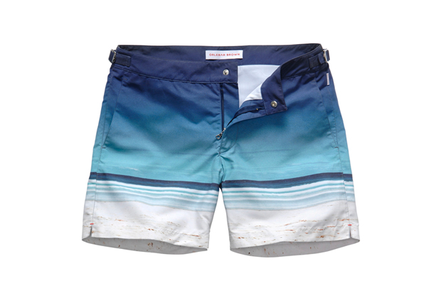 "Image of Orlebar Brown 5th Anniversary ""Surfboards"" Swim Shorts"