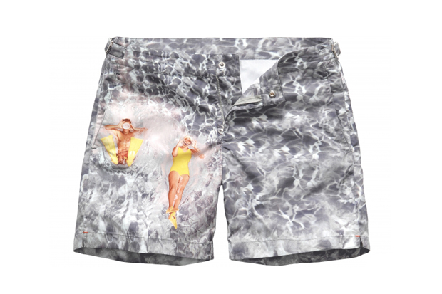 "Image of Orlebar Brown 5th Anniversary ""Splash"" Swim Shorts"
