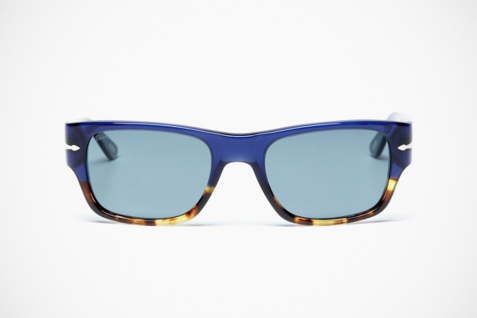 Image of Persol Rectangular Acetate Sunglasses