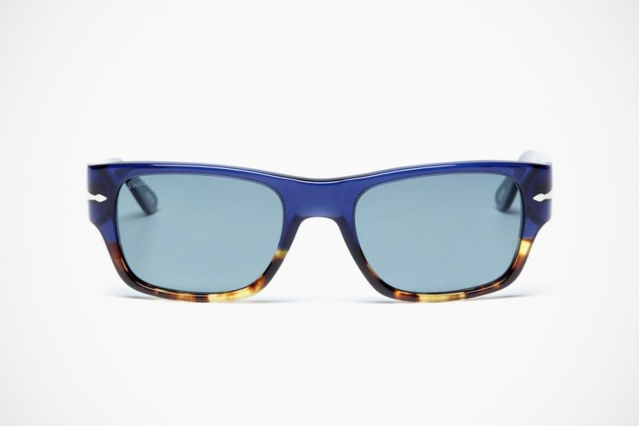 Image of Persol Rectangular Acetate Sunglasses