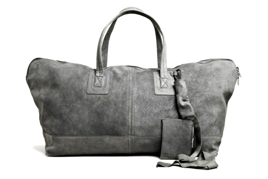 Image of Rick Owens Leather Traveller Bag