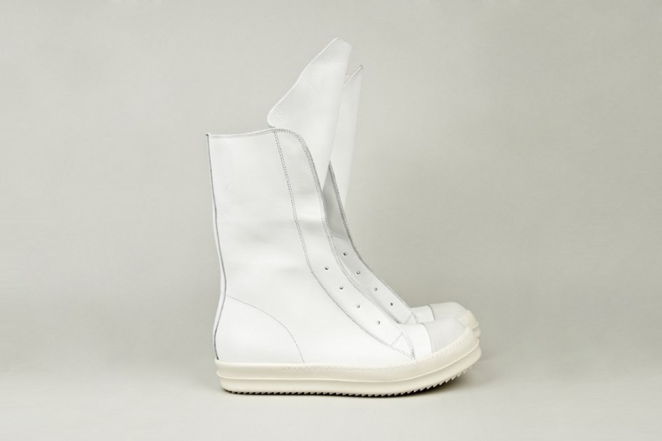 Image of Rick Owens Leather Ramones Boot