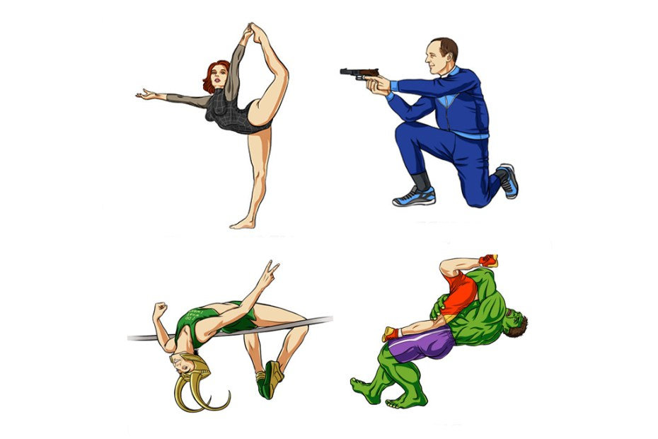 Image of scargeear Envisions The Avengers at the Olympics