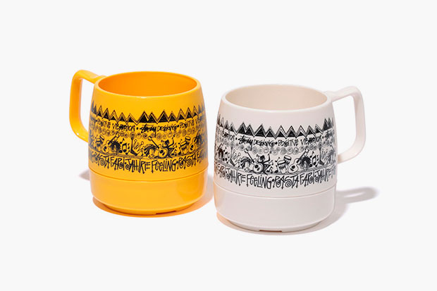 "Image of Stussy x DINEX ""Positive Vibration"" Mugs"