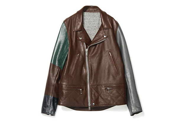 Image of UNDERCOVER J4206-1 Bordeaux Leather Jacket