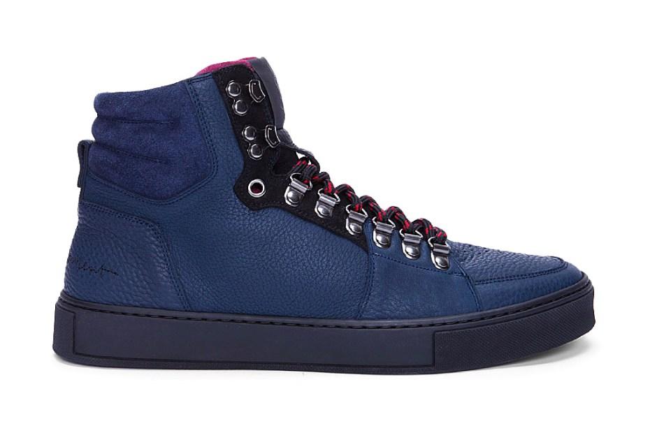 Image of Yves Saint Laurent Navy Malibu Hiking Sneakers