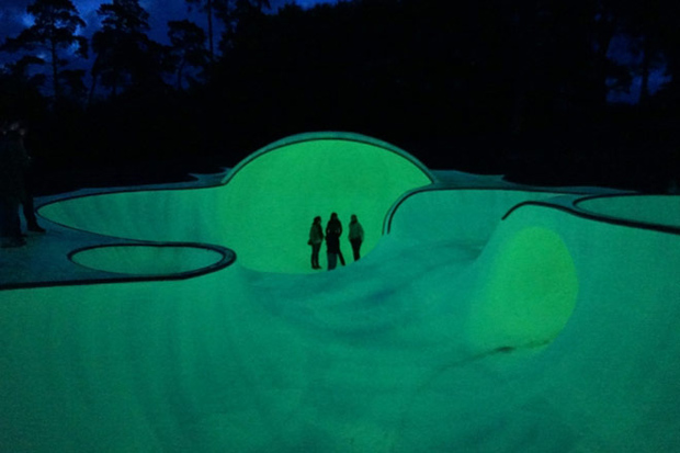 Image of A Glow-in-the-Dark Skatepark in Brussels, Belgium