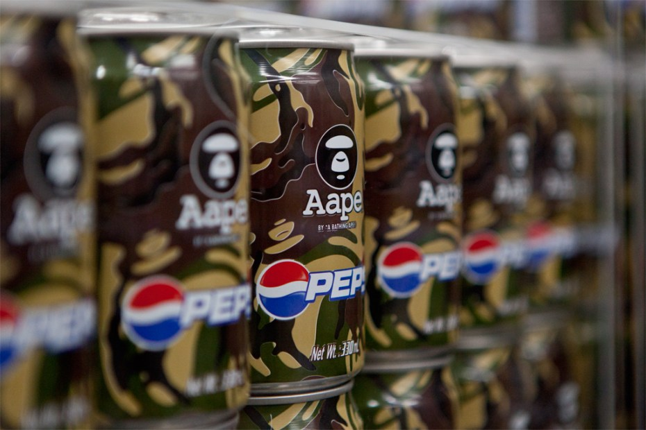 "Image of AAPE by A Bathing Ape x Pepsi 2012 ""MOONFACE CAMO"" Cans"