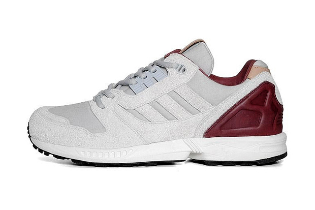 Image of adidas Originals ZX 8000 Grey/Maroon