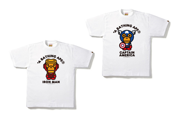 "Image of Marvel Comics x A Bathing Ape 2012 ""The Avengers"" Collection"