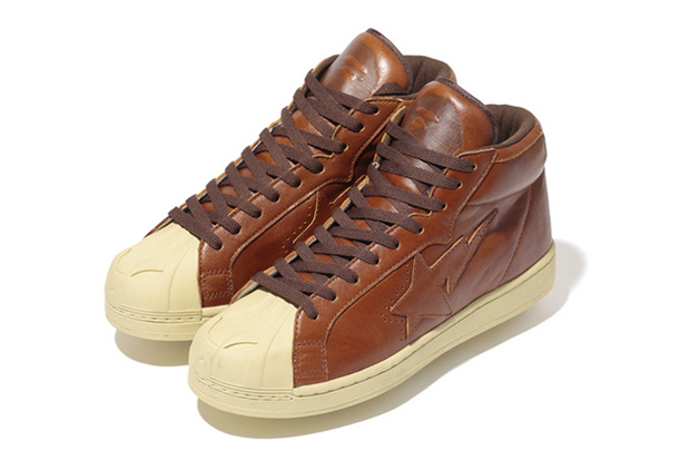 Image of A Bathing Ape Oil Leather BIG TONGUE ULTRA SKULL STA