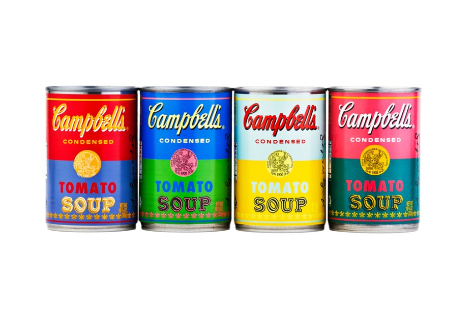Image of Campbell's Celebrates Andy Warhol with 50th Anniversary Soup Cans