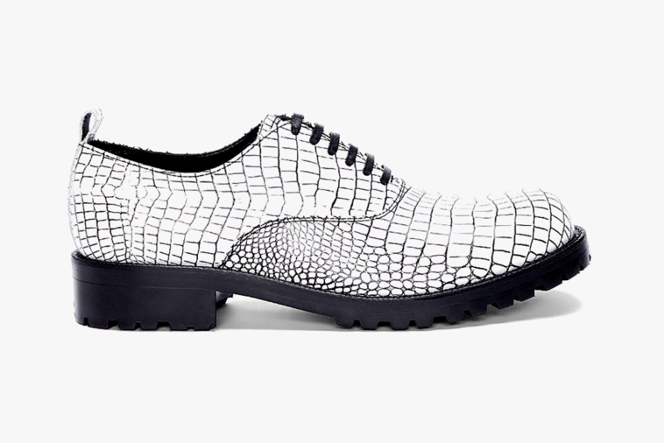 Image of COMME des GARCONS HOMME PLUS Contrast Kip Embossed Shoes