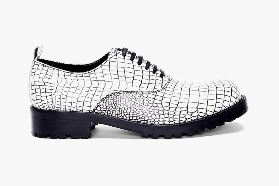 Image of COMME des GARCONS HOMME PLUS Contrast Kip Embossed Shoes