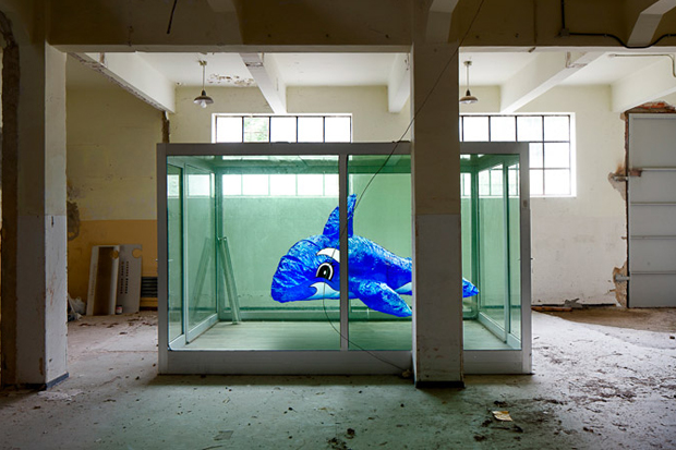 Image of Damien Hirst Tribute 'A Dolphin For Damien' by Alfonso Batalla