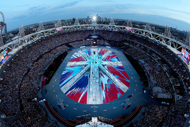 Image of Damien Hirst UK Flag for 2012 London Olympics Closing Ceremony