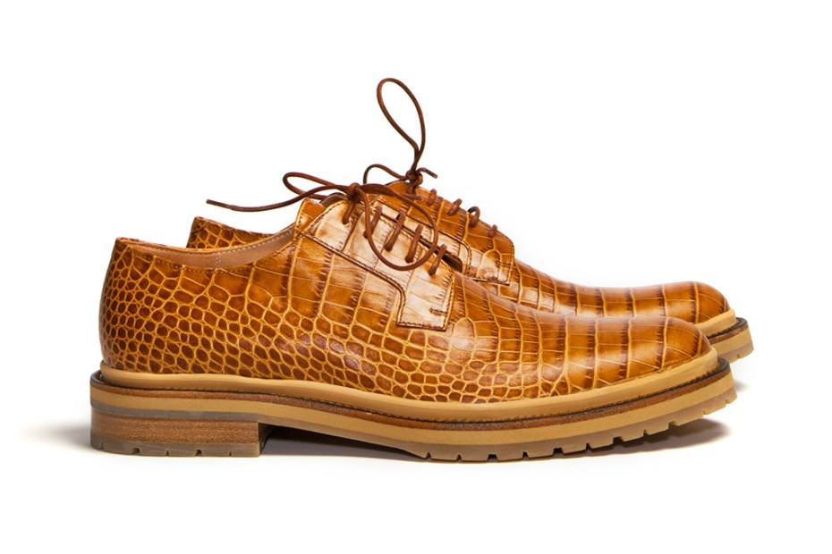 Image of Dries Van Noten Structure Rust Derby Shoes