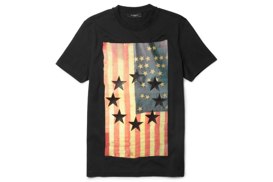 Image of Givenchy Flag-Print T-Shirt