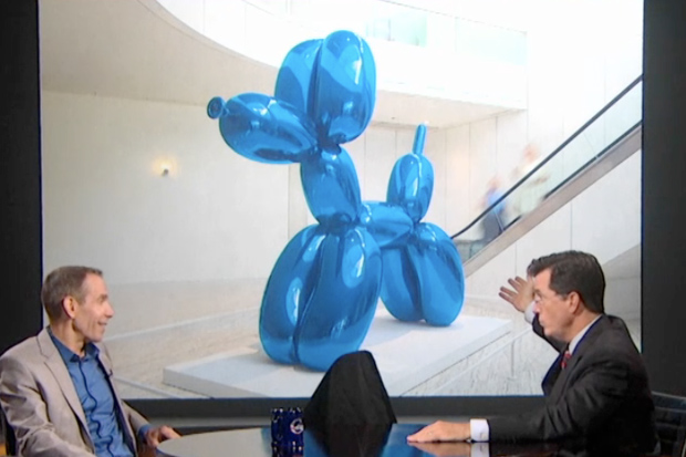 Image of Jeff Koons Makes an Appearance on The Colbert Report