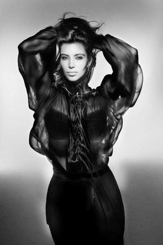 Image of Kim Kardashian for V Magazine by Nick Knight