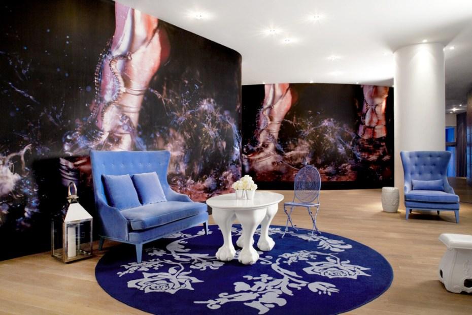 """Image of Marilyn Minter """"Kicksilver"""" Installation @ Mondrian SoHo Hotel"""
