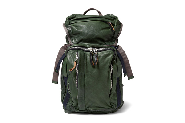 Image of Marni Forest Green Leather Backpack