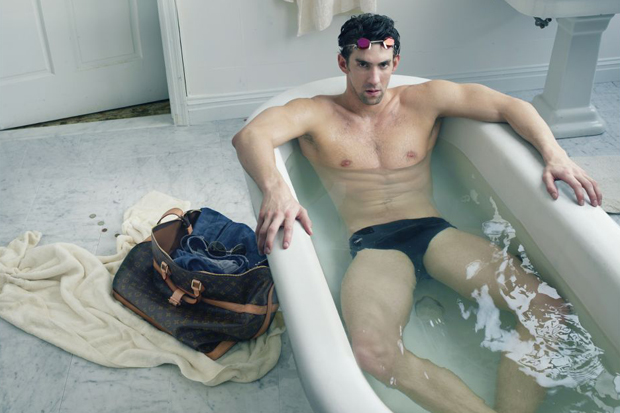 Image of Michael Phelps for Louis Vuitton Ad Campaign