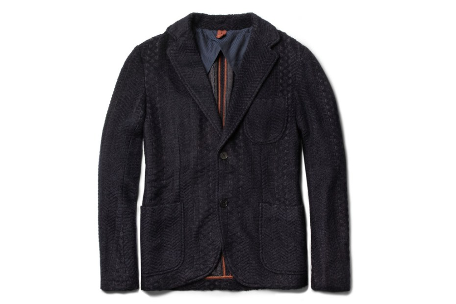 Image of Missoni Unstructured Zigzag-Knit Mohair and Wool-Blend Blazer