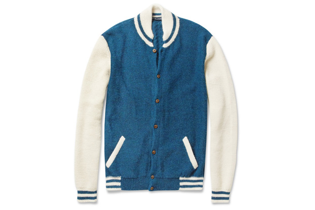 Image of Monsieur Lacenaire Teddy Knitted Alpaca Varsity Cardigan