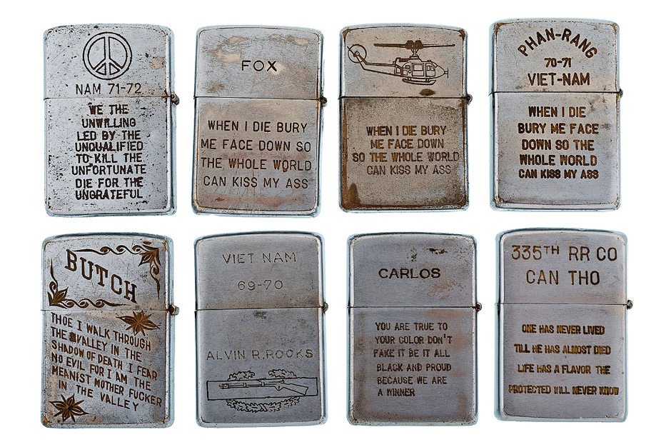 Image of RETROSPECT: Vintage Vietnam War Zippo Lighters