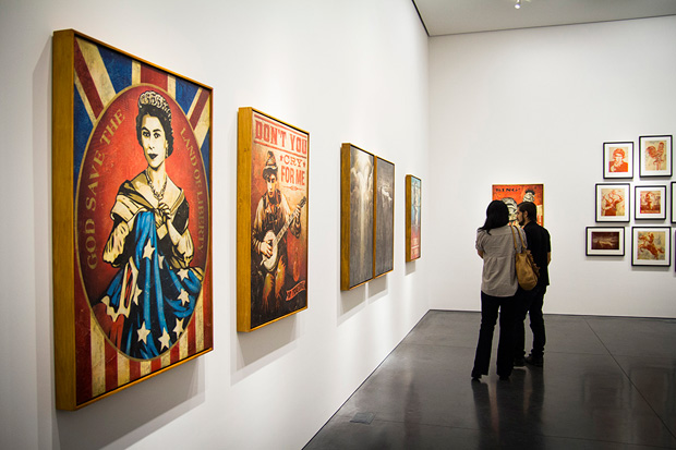 "Image of Shepard Fairey ""Americana"" @ Perry Rubenstein Gallery"