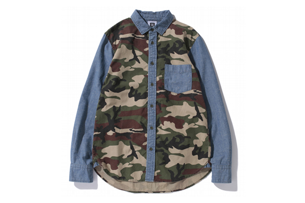 Image of SWAGGER 2012 Fall/Winter Mixed Camo & Chambray Shirts