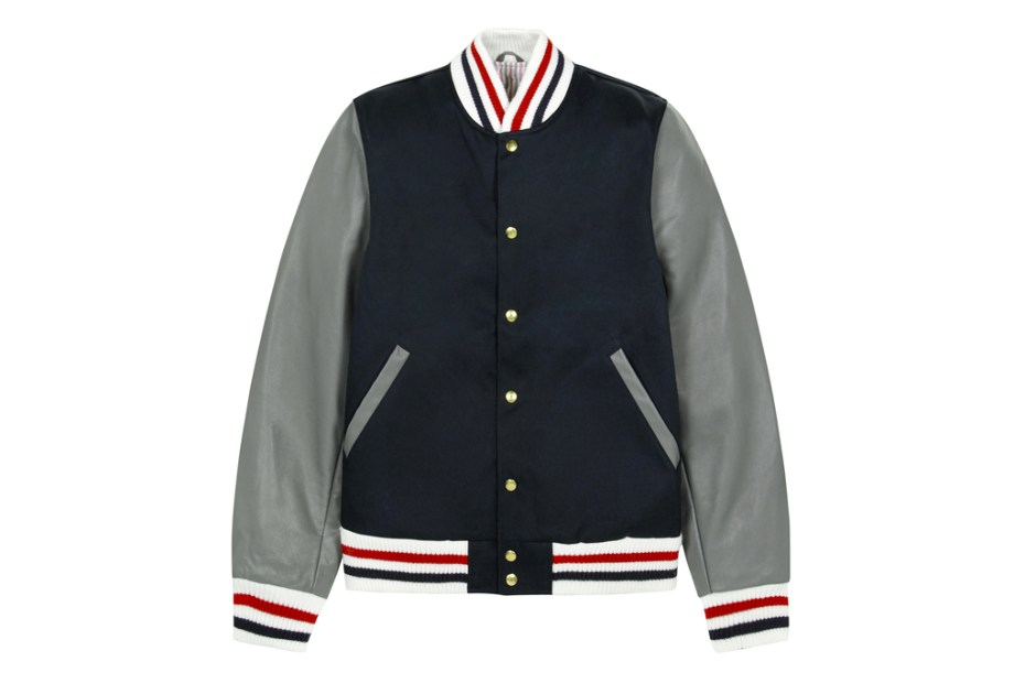 Image of Thom Browne 2012 Fall/Winter Navy Varsity Jacket
