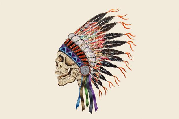 Image of Wes Lang x Warrior Skull Print