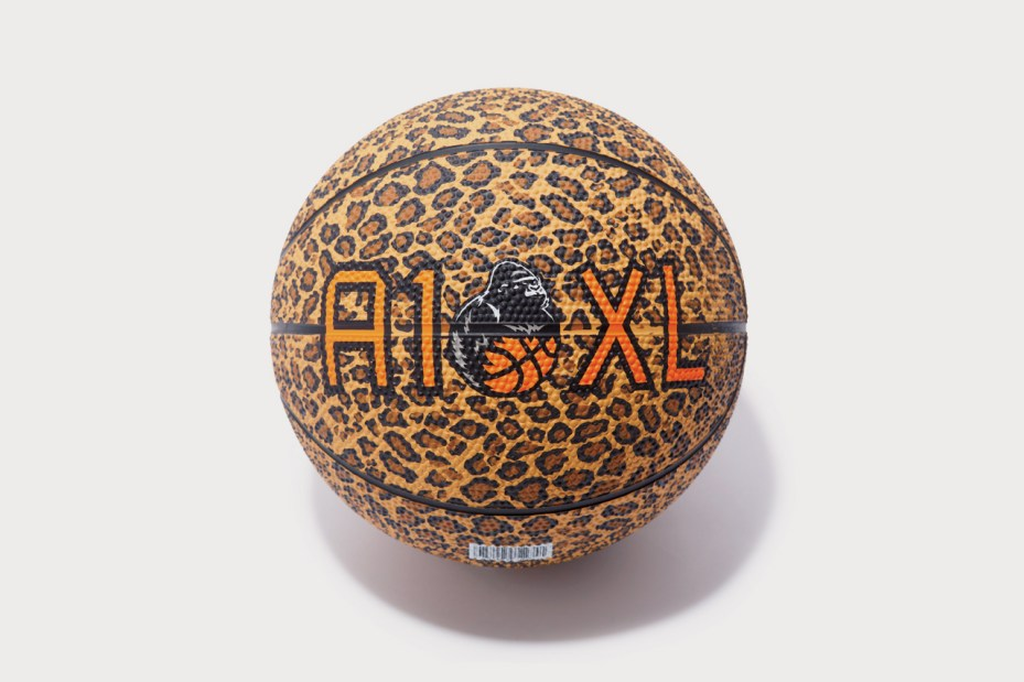 Image of A-1 STORE x XLARGE Leopard Print Spalding Basketball